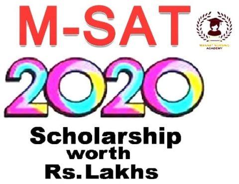 M-SAT 2020: Scholarship Examination   mannatacademy.com