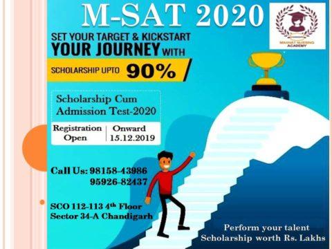 Registration Open For M-SAT | mannatacademy.com